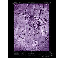 Massachusetts  USGS Historical Topo Map MA Orange 351190 1975 25000 Inverted Photographic Print