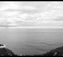 Cliff Sea View (B&W) by Robert Paterson