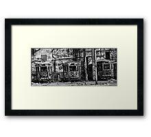Glebe Tram Station Framed Print
