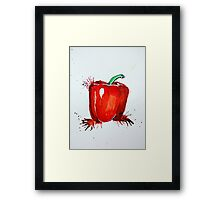 Red Pepper Rectangle Framed Print
