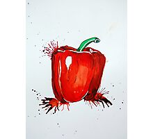 Red Pepper Rectangle Photographic Print