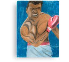 get up sonny,its no fix,the big fight,ali Canvas Print