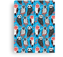 pattern of owls Canvas Print