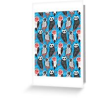 pattern of owls Greeting Card