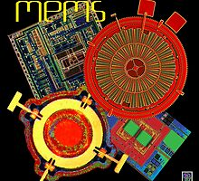 """""""MEMS - Microelectromechanical Systems""""©  by Lisa Clark for Thinker Collection - STEM Art"""