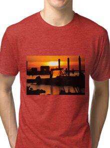 Sunset on Delaware Bay Tri-blend T-Shirt