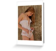 2011 lingerie calendar - monday mourning Greeting Card