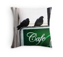 """""""Rare green-breasted Pidgeon ..."""" Throw Pillow"""