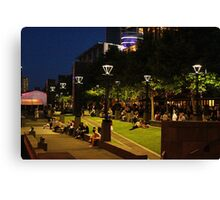 Southbank at night, Melbourne Canvas Print
