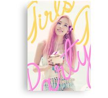 SNSD-TAEYEON-PARTY Canvas Print