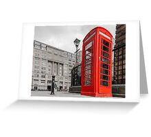 British Red Telephone Box Greeting Card