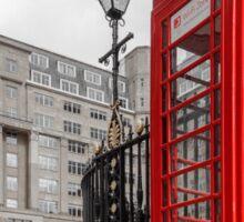 British Red Telephone Box Sticker