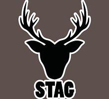 Stag Shirt - Black andWhite Unisex T-Shirt