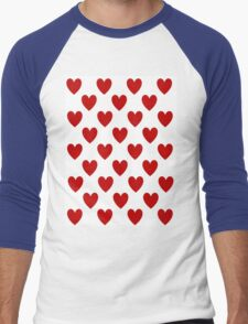 Red Hearts Men's Baseball ¾ T-Shirt