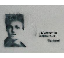 L'amour est à réinventer Arthur Rimbaud Stencil Art Photographic Print