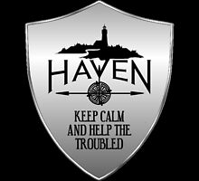 Haven Keep Calm Silver Badge Logo by HavenDesign