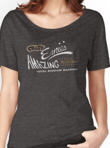 Brave Little Toaster - Crazy Ernie's Emporium (tan/white) Shirt Women's Relaxed Fit T-Shirt