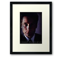 X-files, Fox Mulder,  Framed Print
