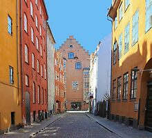 Magstraede - the oldest street in Copenhagen, Denmark by Atanas Bozhikov NASKO