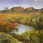 Outback Australian Landscape Painting by Chris Hobel
