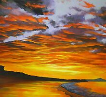 Noosa Beach Sunset, Queensland, Australia by Chris Hobel