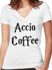 Accio Coffee Women's Fitted V-Neck T-Shirt