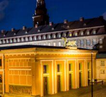 Night view on Christiansborg Palace in Copenhagen, DENMARK Sticker