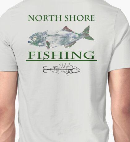 north shore fihsing blue fish 1 Unisex T-Shirt