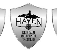 Haven Keep Calm Silver Badge Logo 2 by HavenDesign