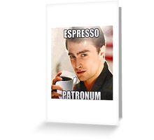 Harry Potter-Espresso Patronum Greeting Card