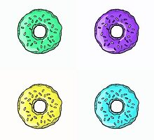 Multiple colored sprinkled donuts by PaolaZuni22