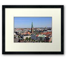 Aerial View of Copenhagen, Denmark Framed Print