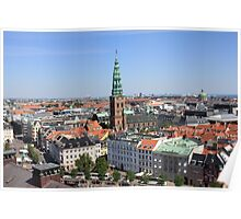 Aerial View of Copenhagen, Denmark Poster