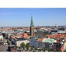 Aerial View of Copenhagen, Denmark Photographic Print