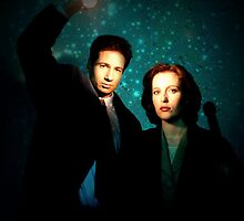 X-files, Scully and Mulder by frostwolf0303