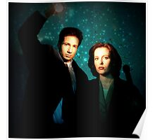 X-files, Scully and Mulder Poster
