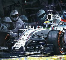 2015 Williams FW37 F1 Pit Stop Spain GP Massa  by Yuriy Shevchuk