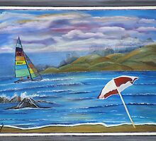 Hobie Cat by Mikki Alhart