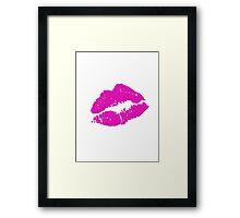 Hot Lips Framed Print