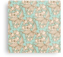 Vector other flowers seamless decorative pattern Metal Print