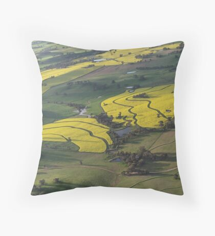 Canola Patterns Throw Pillow
