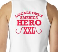 LOCALS ONLY AMERICAN HEROS  XXL, t-shirt Tank Top