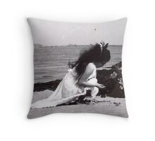 Sometimes When I Was A Little Girl I Would Hear The Sea Talking To Me, It Would Tell Me To Lie Down, Right There On The Shore, To Me The Sea Seems Like Some Sort Of Salty Universal Womb... Throw Pillow