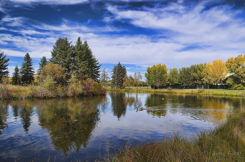 Reflections of Early Autumn  by Myron Watamaniuk
