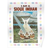 I am a Sioux Indian (book cover) Poster