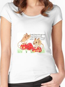 Shroom On! Look to Nature Women's Fitted Scoop T-Shirt
