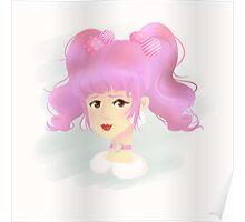 Cutie Pink Harajuku Girl Poster