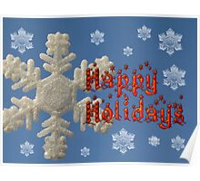 Happy Holidays Card Poster