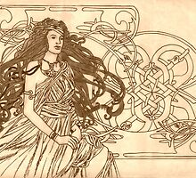 Art Nouveau Celt by redqueenself