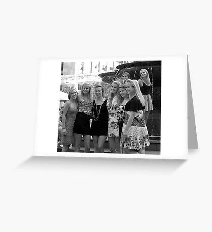 Cuties at the Fountain in Cincinnati Greeting Card